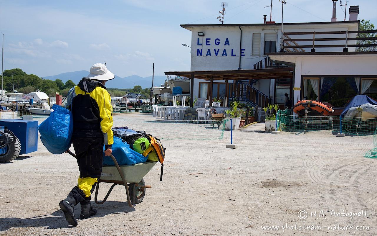 the route-antognelli-italie-kayak-lega navale Italiana-marina di pisa