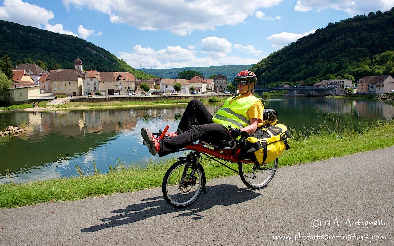Vélo couché dans le Doubs