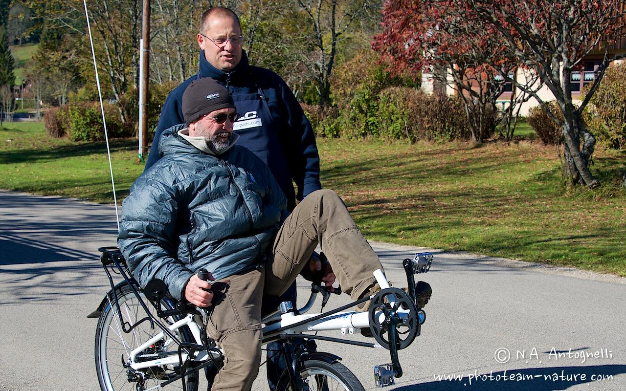 Vélo couché avec Laurent.Alain Taine