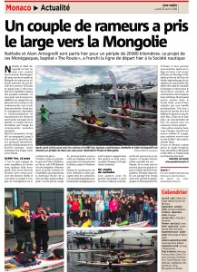 article the route monaco matin